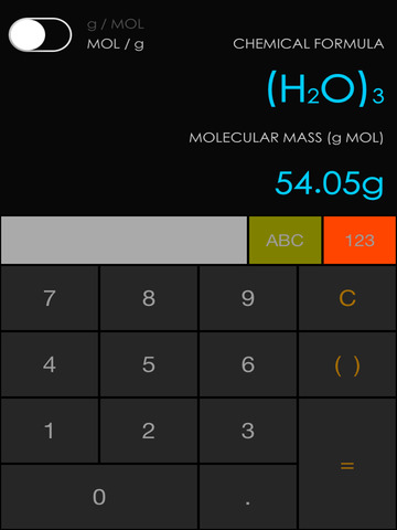 Chemist Calc Screenshots