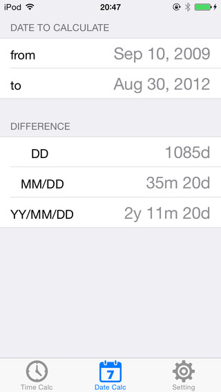 Time Difference Calculator iPhone Screenshot 4