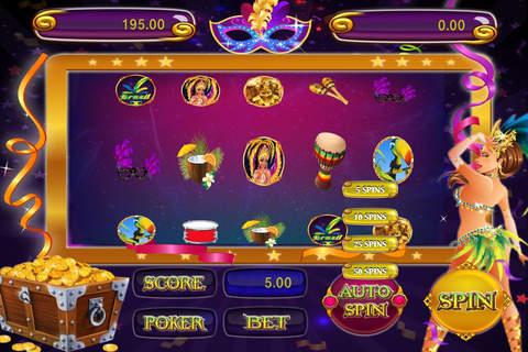 Samba Carnival - Play Las Vegas Gambling Slots and Win Lottery Jackpot screen