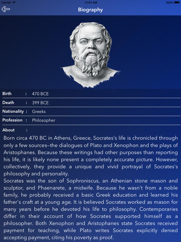 the life and philosophy career of socrates The philosopher socrates remains, as he was in his lifetime (469–399 bce), [] an enigma, an inscrutable individual who, despite having written nothing, is considered one of the handful of philosophers who forever changed how philosophy itself was to be conceived all our information about him is second-hand and most of it vigorously disputed, but his trial and death at the hands of the.