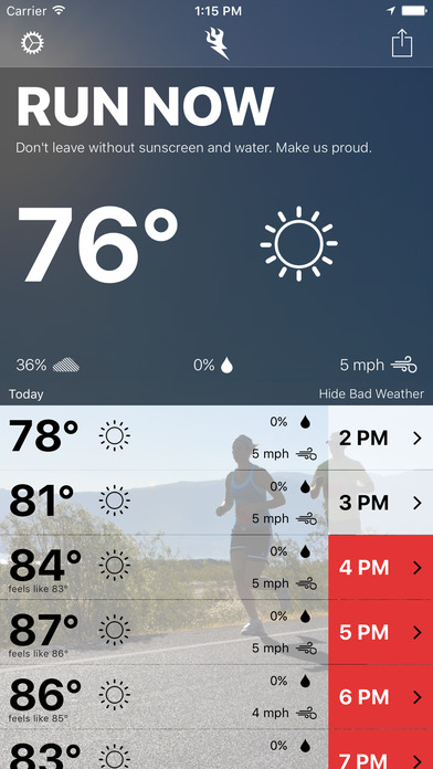Runcast - Weather for Runners screenshot 1
