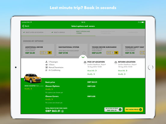 Europcar iPad Screenshot 4