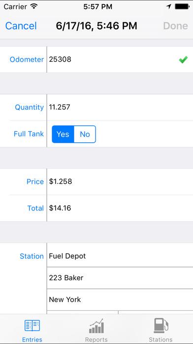 Fuel File iPhone Screenshot 2