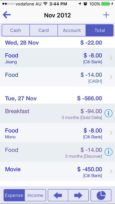 Cashbook Pro iPhone Screenshot 5