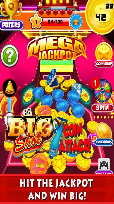 Screenshot 4 Монета бульдозер казино: Голден Слоты Монеты Толкатель автомат и удачливы вращение колеса Игры