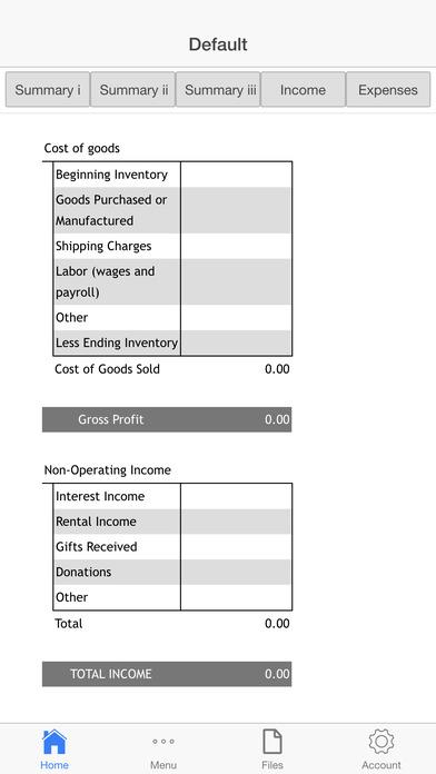 Goods Company Budget Screenshots