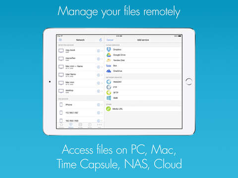 Remote Media Manager Pro - Access Files on Cloud and Network Shares Screenshots