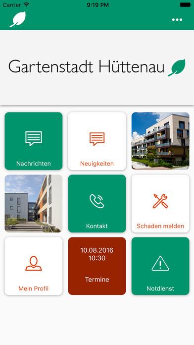 Gartenstadt Hüttenau direkt screenshot