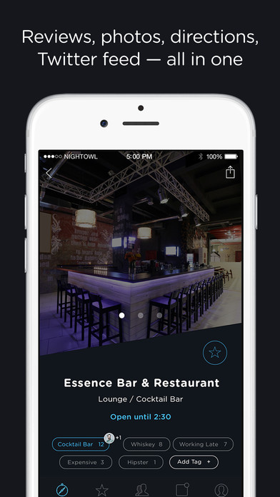 NightOwl – Find local bars, clubs, lounges and other nightlife nearby screenshot