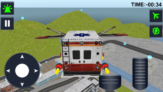 Flying Ambulance Driving 3d simulator Screenshot