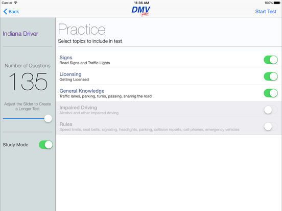 DMV Test Prep - Indiana iPad Screenshot 2