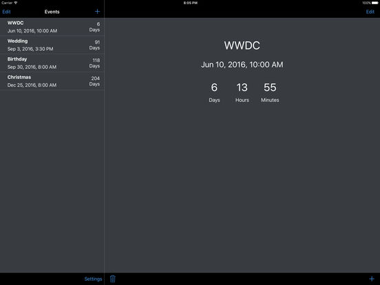 MyCntdwn iPad Screenshot 2