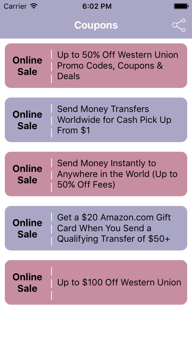 Western union coupon code 2018