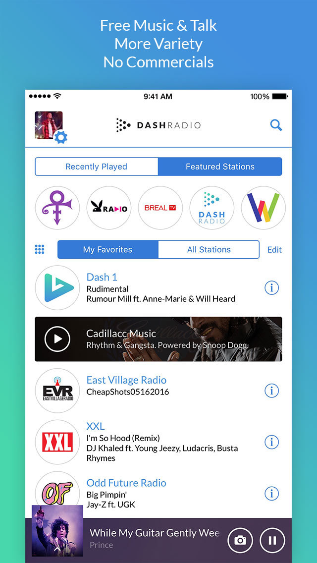 Dash Radio - Commercial Free Music screenshot