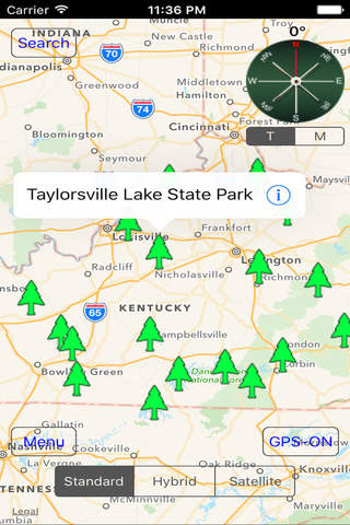 Kentucky: State Parks & National Parks screen