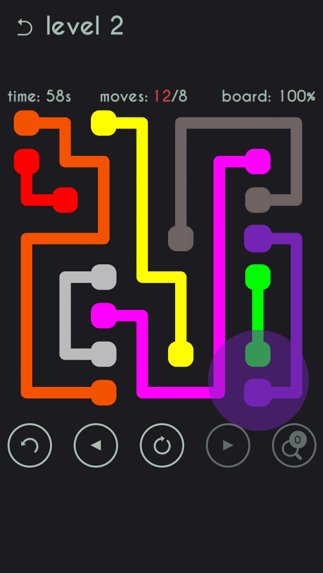 Line Drawing Game App : App shopper free brain game the color line draw connect