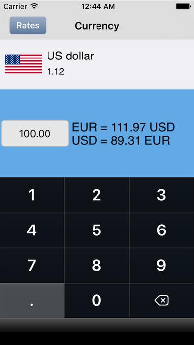 Euro Currency Converter iPhone Screenshot 1