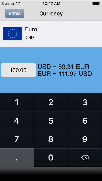 Dollar Currency Converter iPhone Screenshot 1