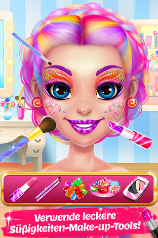 Candy Makeup Beauty Game screenshot 2