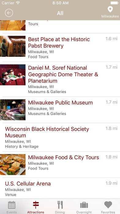 Travel Wisconsin iPhone Screenshot 3