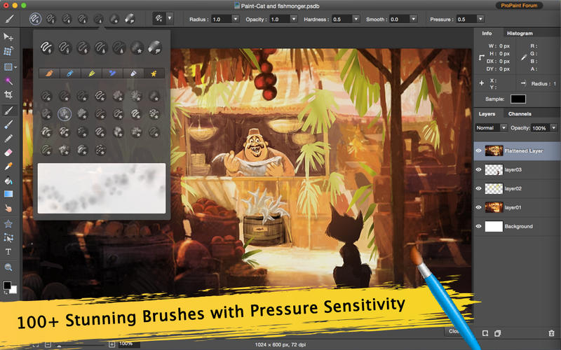 Pro Paint - 100+ Paint Brushes for Creative Art Screenshots