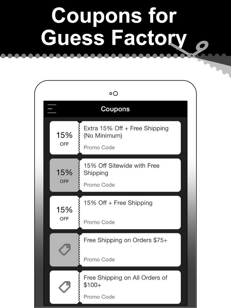 Guess factory coupon code