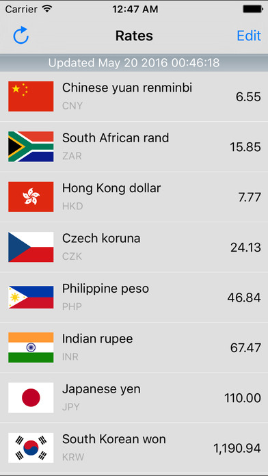 Dollar Currency Converter iPhone Screenshot 2