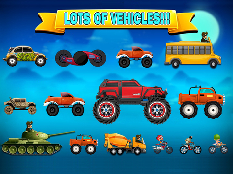 Super Monster Car Hill Road Driving : Real Heroes Racing Games !-ipad-4
