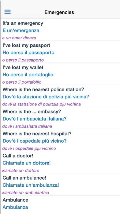 Italian Dictionary Free iPhone Screenshot 5