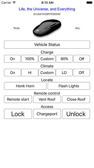 Tesla Key Screenshots