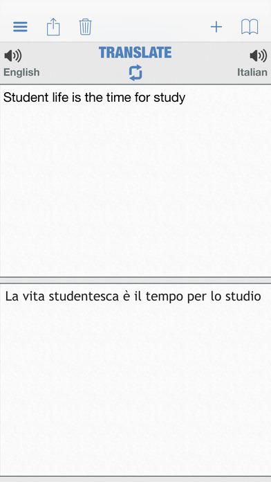 Italian Dictionary Free iPhone Screenshot 4
