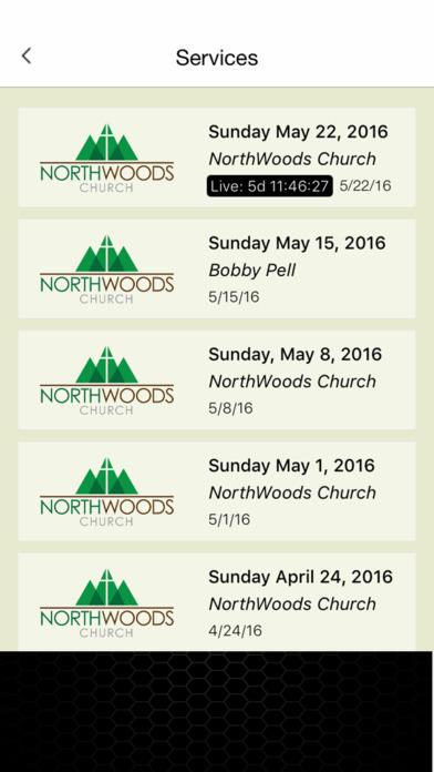 NorthWoods Church iPhone Screenshot 2
