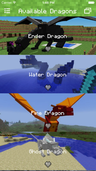 DRAGONS MOD FOR MINECRAFT EDITION PC - POCKET GUIDE Screenshots
