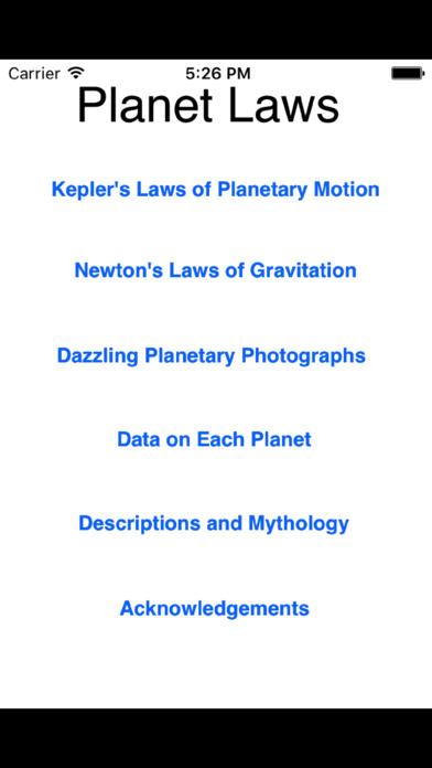 Planet Laws - Know Your Solar System iPhone Screenshot 5