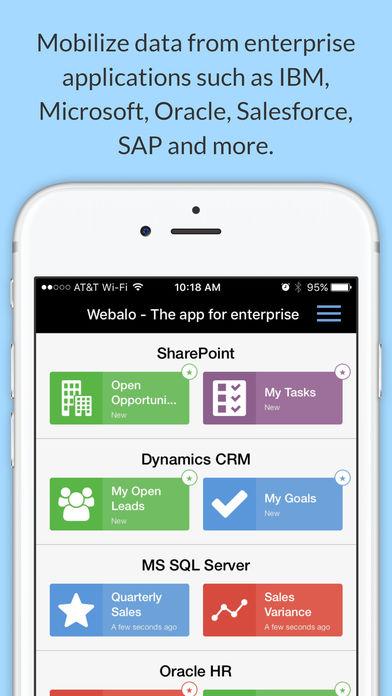 Webalo iPhone Screenshot 2