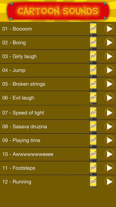 Мультфильм Звуковые Эффекты И Шумы – Лучший Бесплатная Бдительный Мелодии Для iPhone Скриншоты4