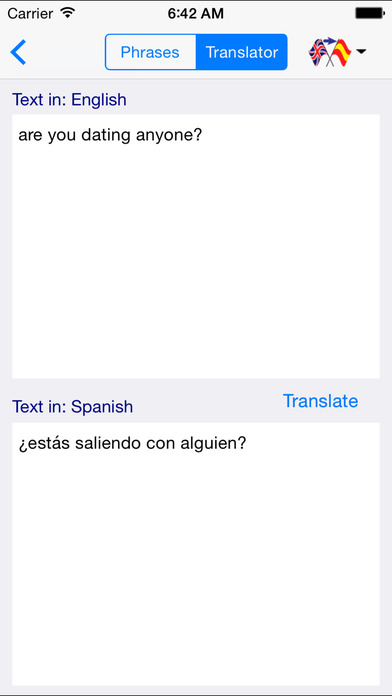 translate dating to spanish