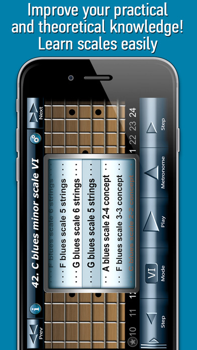 Bluesman Guitar Scales iPhone Screenshot 2