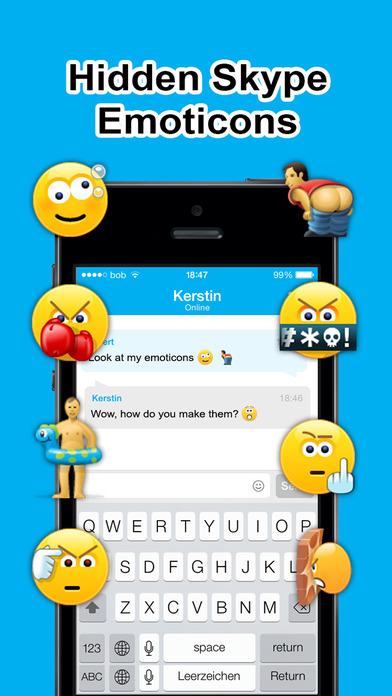 Skype Secret Smileys iPhone Screenshot 1