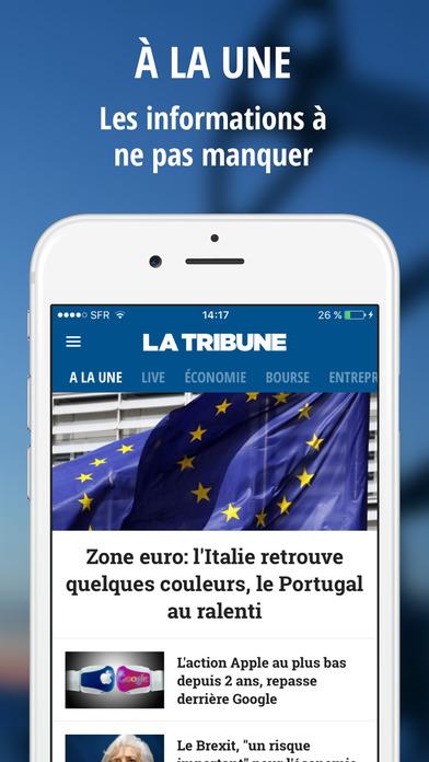 La Tribune iPhone Screenshot 1