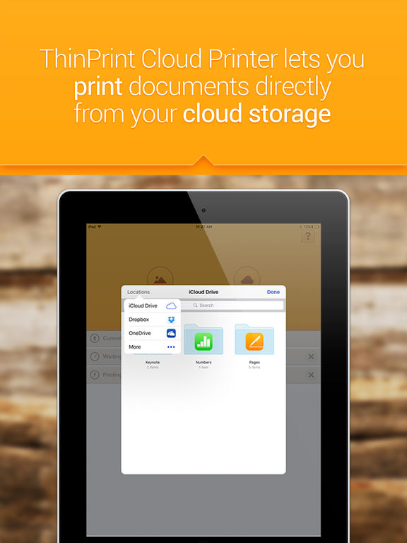 ThinPrint Cloud Printer – Print directly via WiFi / WLAN or via cloud to any printer Скриншоты8