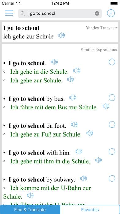 German Translator - Offline English German Translation & Dictionary / Englisch nach Deutsch Übersetzung Apps free for iPhone/iPad screenshot