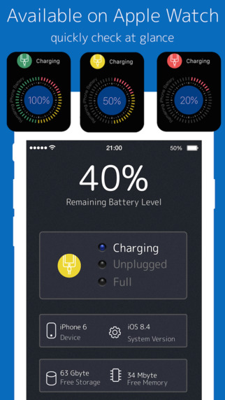 Battery Life - Check battery charge for Apple Watch Screenshots