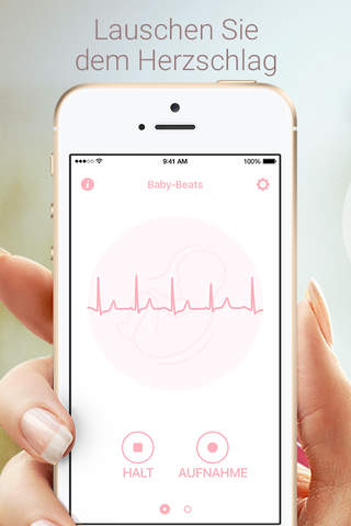 Baby Beat - Fetal Heartbeat Monitor screenshot 1