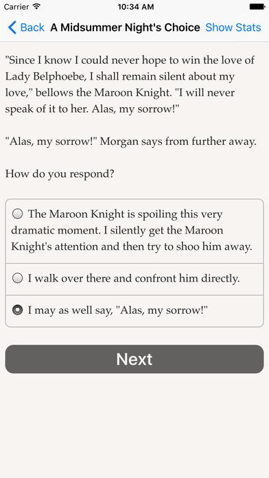 A Midsummer Night's Choice Screenshot