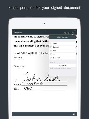 Sign by JotNot - fill and sign PDF form or sign PDF document Screenshots
