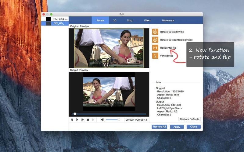 MOD 格式视频转换软件 AnyMP4 MOD Converter for Mac