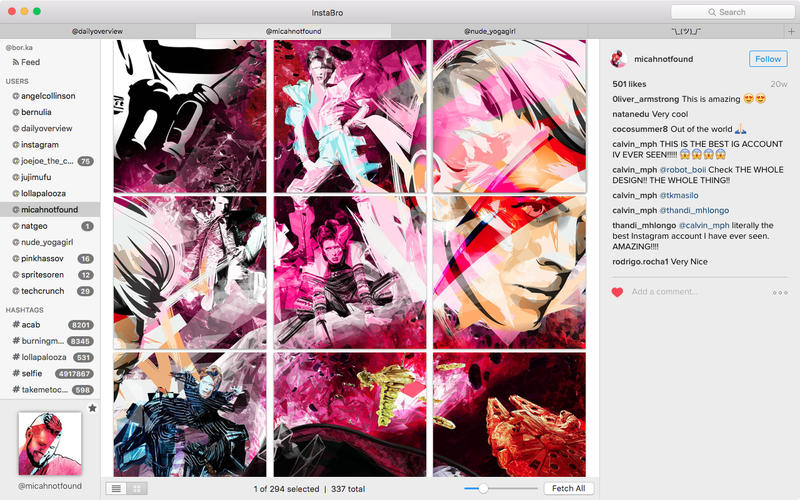 InstaBro for Mac 4.2 激活版 - 优秀的Instagram照片下载工具