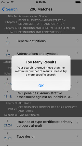 14 CFR - Aeronautics and Space (LawStack's Title 14 Code of Federal Regulations) Applications gratuit pour iPhone / iPad screenshot