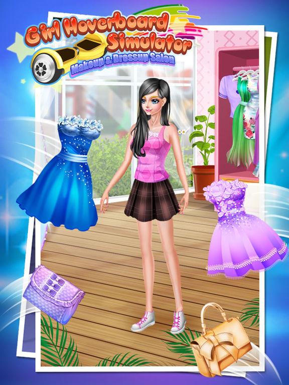 Girl Hoverboard Simulator - Makeup & Dressup Salon Game FOR FREEscreeshot 3